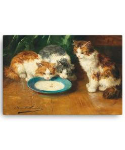 Alfred Brunel de Neuville: What's that then?, Before 1941, Canvas Cat Art Print, 18x24