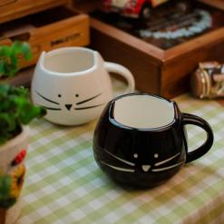 Cute Cat Face Ceramic Coffee Tea Mug