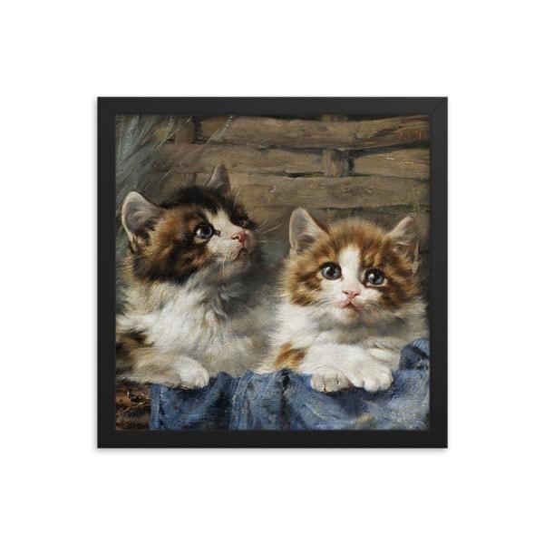 Julius Adam: Two Kittens, 1913, 10×10