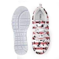 Casual Cat Design Women's Sneaker Tennis Shoe