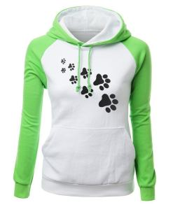 Cute Cat Paw Women's Hoodie Sweatshirt
