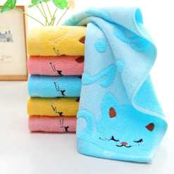 Cute Cat Design Facial Hand Towel