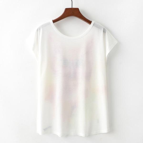 Short Sleeve Cat Print T-Shirt Top