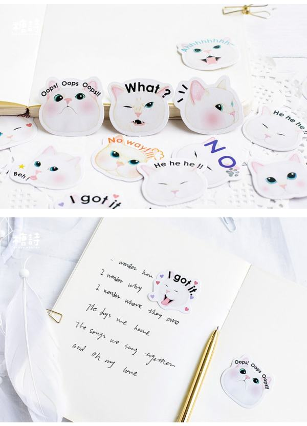 Fat Cat Memo Pad Stickers 40pc Set4