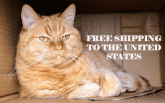 Free Shipping to the US at The Great Cat Store