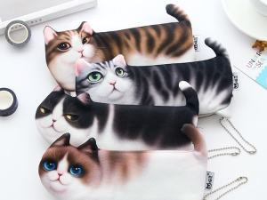 Cute Kitty School Pencil Pen Bag