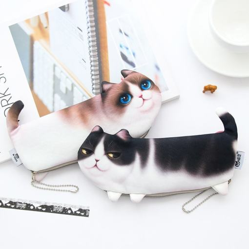 Cute Kitty School Pencil Pen Bag