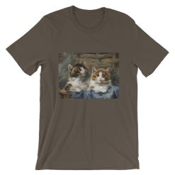 Julius Adam, Zwei Katzen, Short-Sleeve Unisex T-Shirt at The Great Cat Store