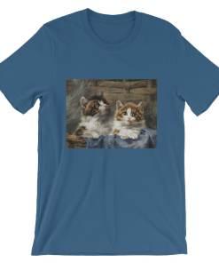 Julius Adam, Zwei Katzen, Short-Sleeve Unisex T-Shirt at The Great Cat Store