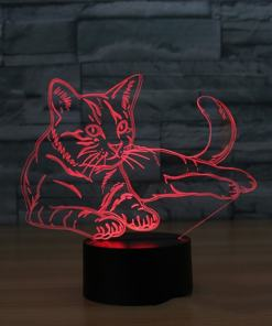 Cat 7 Colors 3D Night Light Table Lamp at The Great Cat Store