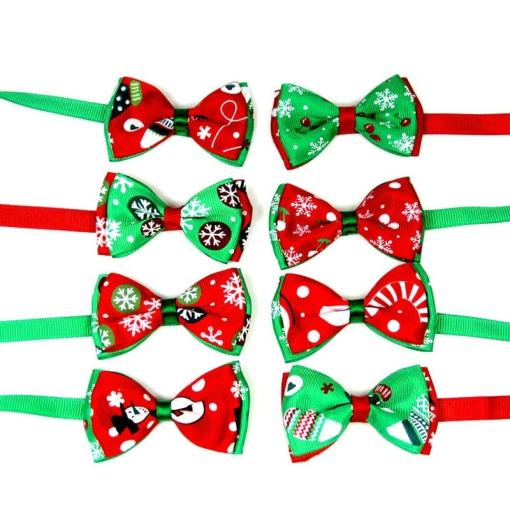 Festive Christmas Cat Bow Collars at The Great Cat Store