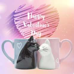 Valentine Love Cats Two Mug Set at The Great Cat Store