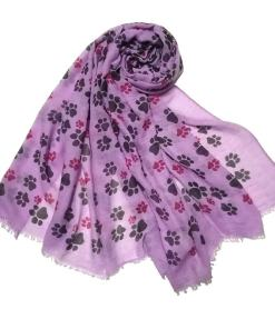 Large Cat Paw Design Scarf at The Great Cat Store
