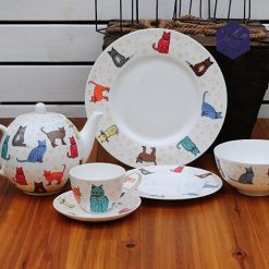 British Bone China Cat Design Tea Coffee Set at The Great Cat Store