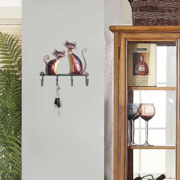 Cat Wall Mounted Coat Keys Hanger