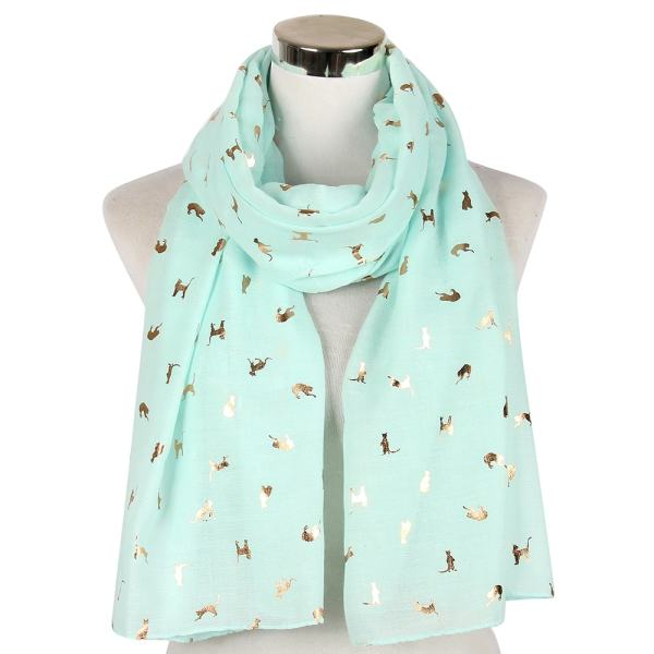 Cute Cat Design Scarf Shawl