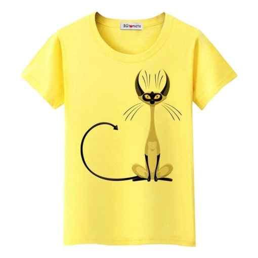 Elegant Black Cat T-Shirt at The Great Cat Store
