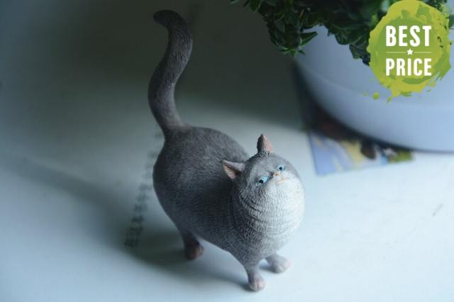 Satisfied Cat Figurine at The Great Cat Store