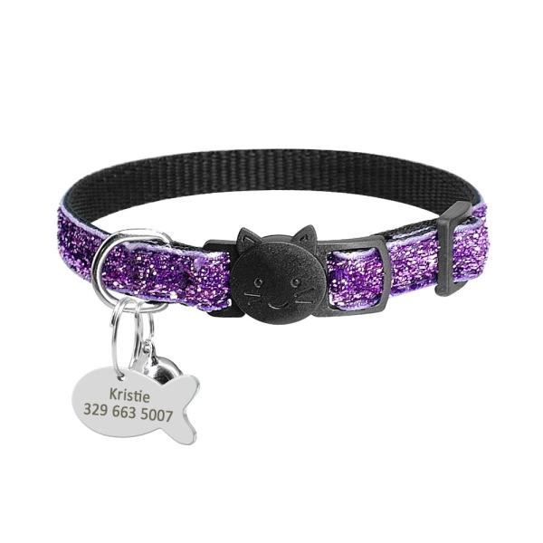 Personalized Tag Quick Release Cat Kitten Collar