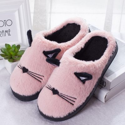 Fluffy Cat Ear Slippers