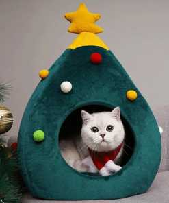 Christmas Tree Cat Bed at The Great Cat Store