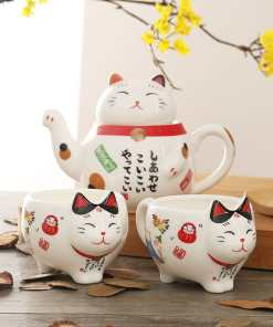 Super Cute Japanese Lucky Cat Porcelain Tea Set