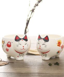 Super Cute Japanese Lucky Cat Porcelain Tea Set