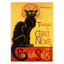 Theophile Alexandre Steinlen: Le Chat Noir The Black Cat Unframed Canvas Print
