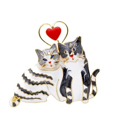 Valentine's Day Cat Love Pin