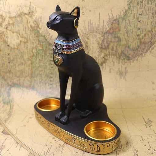 Egyptian Cat Goddess Bastet Candle Holder