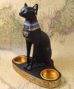 Egyptian Cat Goddess Bastet Candle Holder