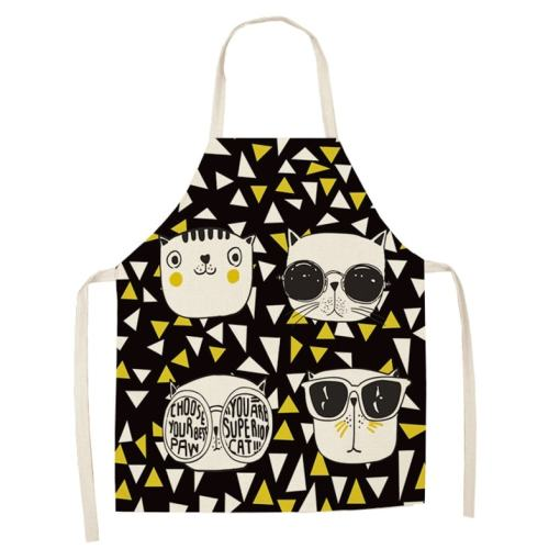 Various Cat Themed Kitchen Aprons