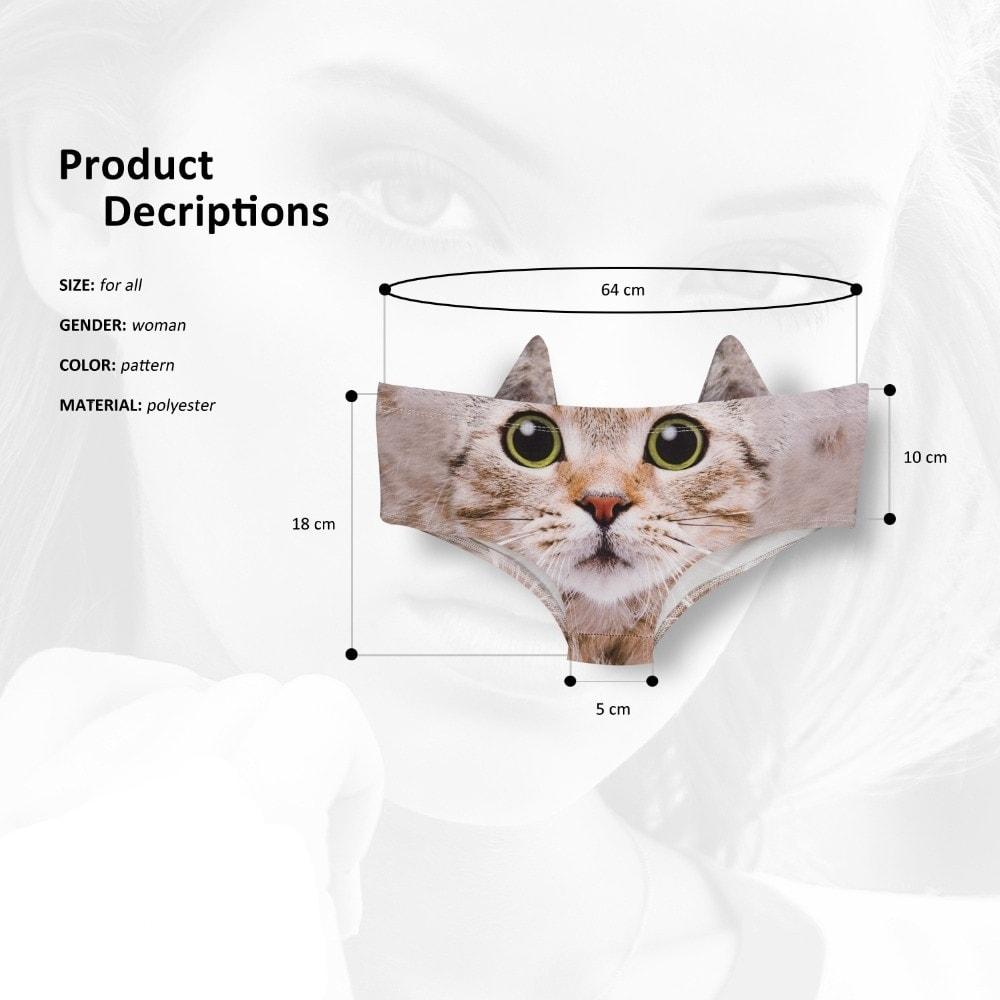Women's Cat Panties with Ears