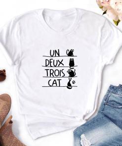 Un Deux Trois Black Cat T-Shirt