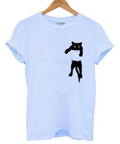 Black Cat in Pocket T-Shirt