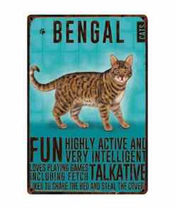 Bengal Cat Metal Sign