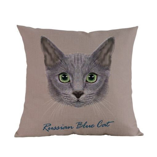 Russian Blue Cat Cushion cover
