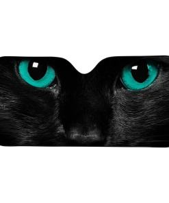 Black Cat Car Windshield Sunshade Heat Reflector