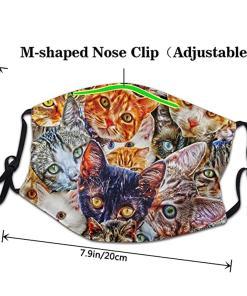 Cute Printed Multi Cat Themed Face Mask