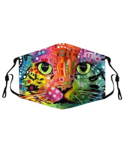 star cat face mask