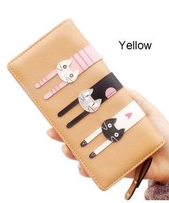 Cute Cartoon Cat Long Coin Purse Wallet