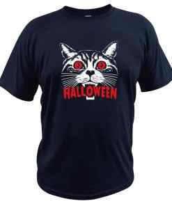 Unisex Halloween Scary Cat T Shirt