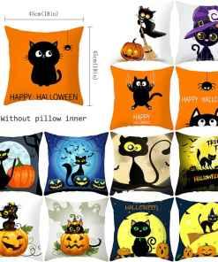 Cute Assorted Halloween Cat Cushion Covers