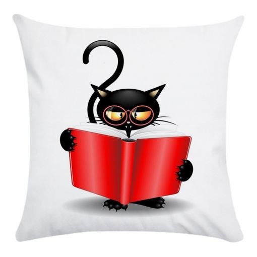 Assorted Black Cat Themed Pillow Cases Covers