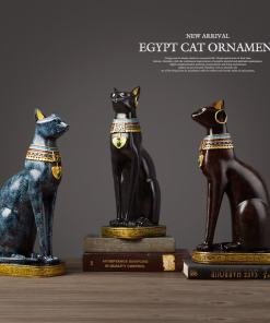 Egyptian Cat Goddess Bastet Figurine Statue