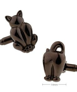 Men's Black Cat Cuff Links