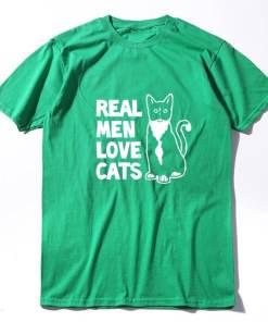 Real Men Love Cats 100% Cotton T-Shirt