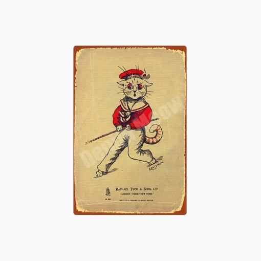 Louis Wain Vintage Cat Metal Signs
