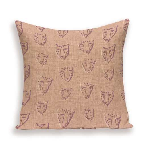 Various Linen Tiger Cushion Pillow Covers at The Great Cat Store