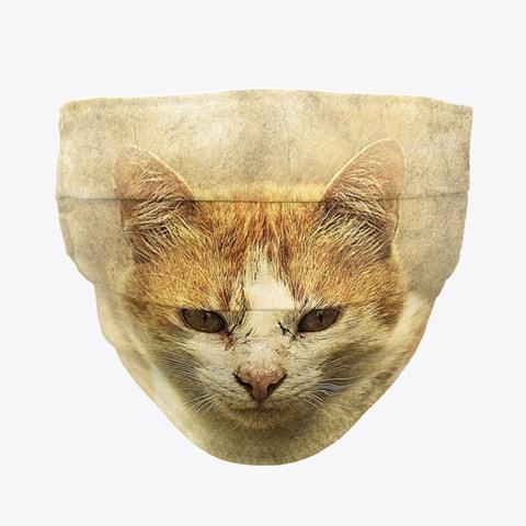 Ginger Cat Face Mask